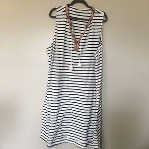 AVA VIV Black & White Striped Dress